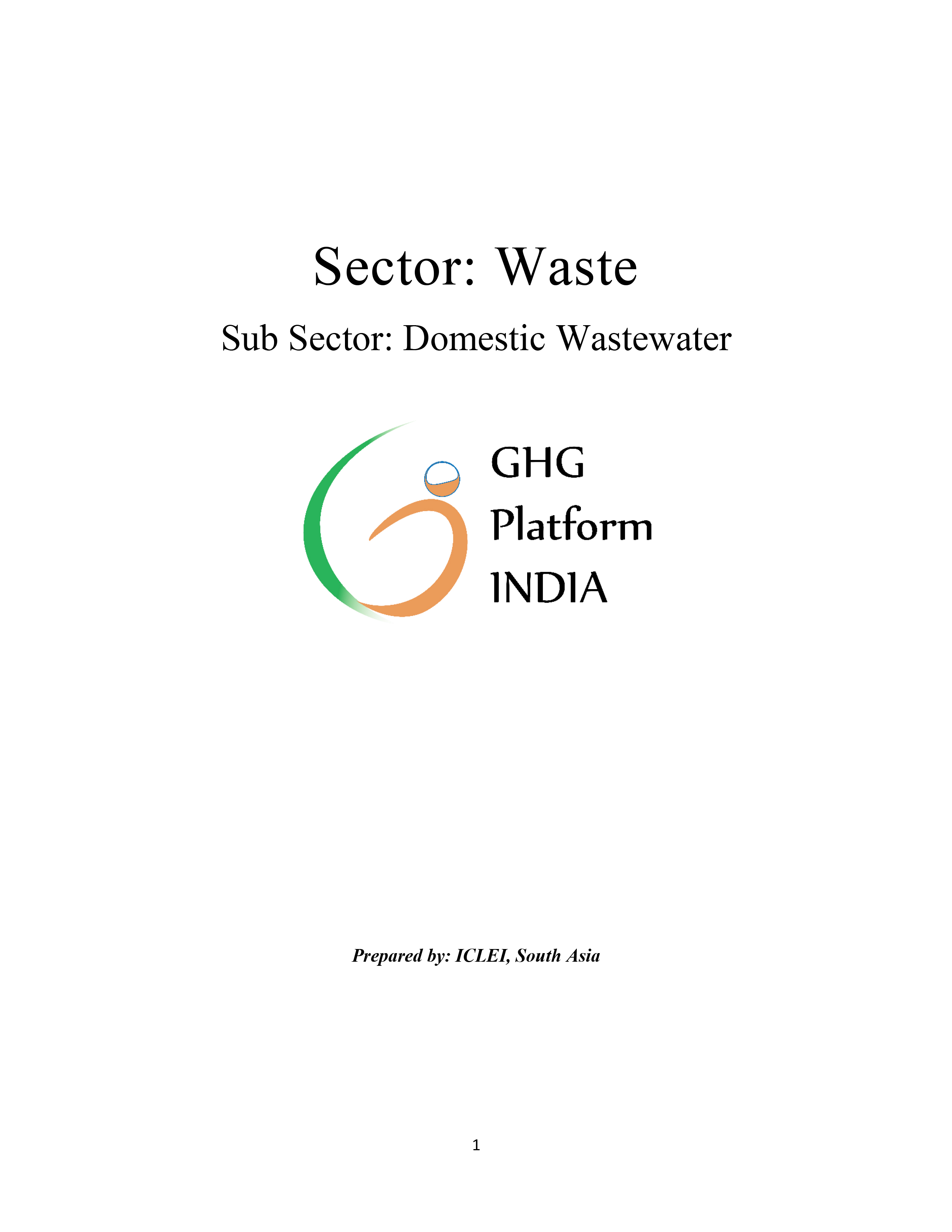Waste-Domestic Wastewater