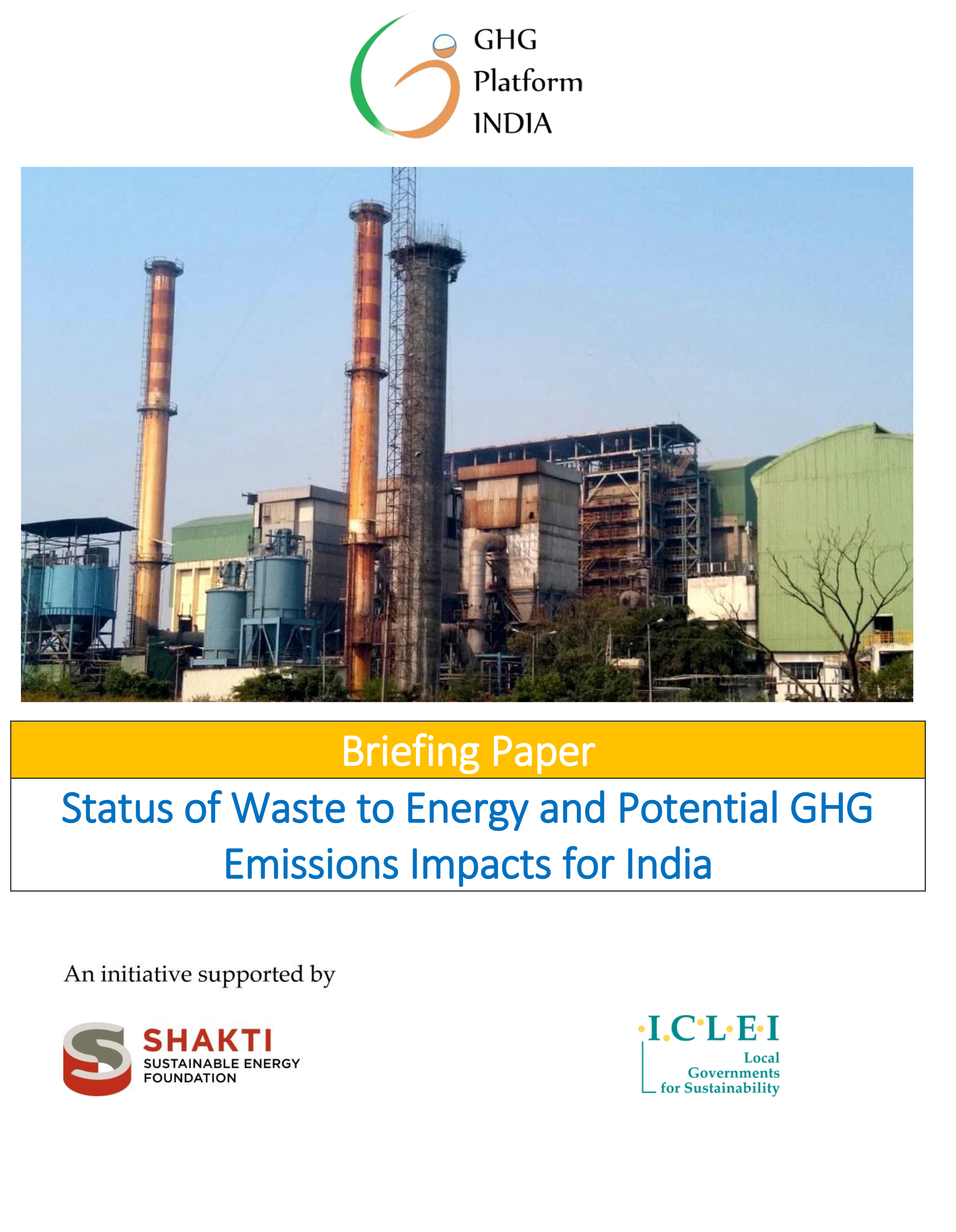 GHG Emission Estimates for the Informal Manufacturing Industry of India